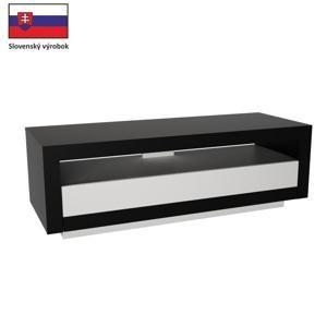 TEMPO KONDELA RTV stolík, čierna/biela, AGNES