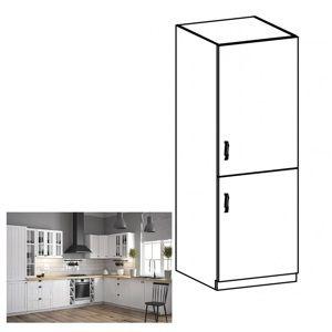 TEMPO KONDELA Dolná skrinka na vstavanú chladničku D60ZL, pravá, biela/sosna Andersen, PROVANCE