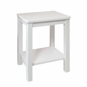 TEMPO KONDELA Nočný stolík, masív/biela, FOSIL