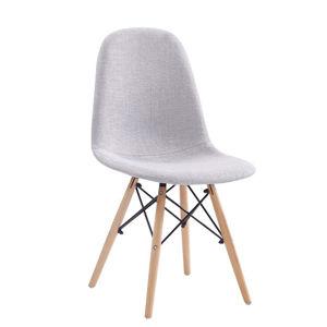TEMPO KONDELA Jedálenská stolička, svetlosivá, DARELA NEW