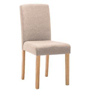 TEMPO KONDELA Jedálenská stolička, béžová/buk, SELUNA