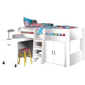 TEMPO KONDELA Kombinovaná posteľ do detskej izby, biela, FANY