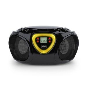 AUNA ROADIE, BOOMBOX, CIERNY, CD, USB, MP3, FM/AM RADIO, BLUETOOTH 2.1, LED FAREBNE EFEKTY, 10029814