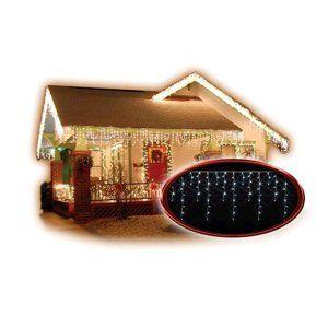 LED reťaz Solight venkovní závěs, rampouchy, 120LED, 3m x 0,7m, přívod 6m, IP44, bílé světlo