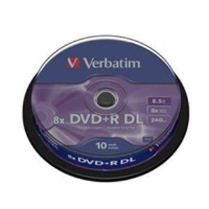 VERBATIM DVD+R DL AZO 8,5GB, 8x, spindle 10 ks