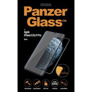 PanzerGlass - Tvrdené sklo Curved Edges pre iPhone 11 Pro/Xs/X, čierna