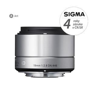 SIGMA 19/2.8 DN ART stříbrný, Micro 4/3, Olympus / Panasonic