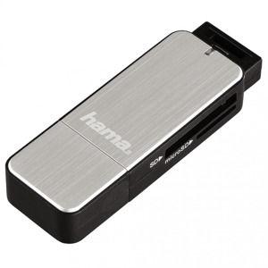 Hama čítačka kariet USB 3.0 SD/microSD, strieborná