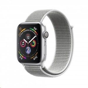 Apple Watch Series 4 GPS, 40mm Silver Aluminium Case with Seashell Sport Loop
