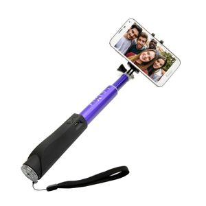 Teleskopický selfie stick FIXED v luxusním hliníkovém provedení s BT spouští, modrý