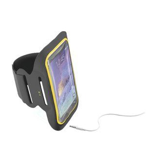 """Sportovní soft pouzdro CellularLine ARMBAND FITNESS, pro smartphony do velikosti 5,5"""", černé"""