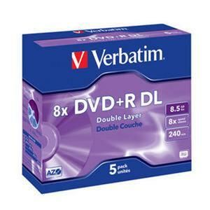 VERBATIM DVD+R DL AZO 8,5GB, 8x, jewel case 5 ks