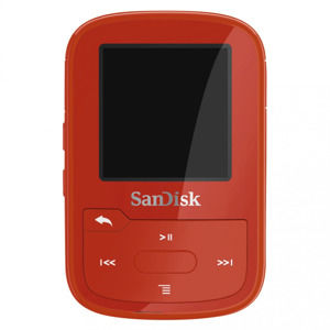 SanDisk Clip Sport Plus 16 GB Wearable, Bluetooth MP3 Player, červená