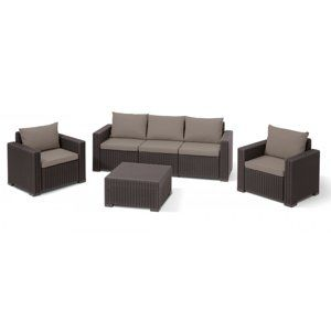 ALLIBERT /189443/ ZAHRADNY SET CALIFORNIA 3 BROWN + BEIGE