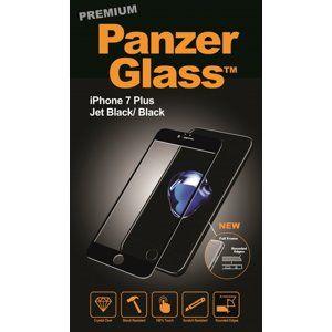 PanzerGlass - Tvrdené sklo PREMIUM pre iPhone 8/7 Plus, čierna