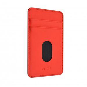 Nalepovacie vrecko FIXED Caddy pre 2 kreditnej karty, PU kože, červená