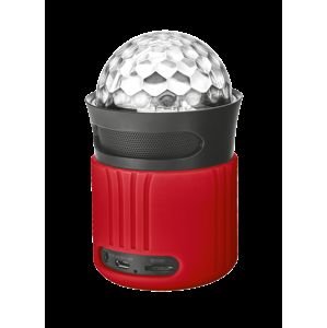 TRUST Dixxo Go Wireless Bluetooth Speaker with party lights - red