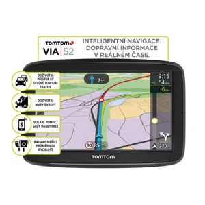TomTom VIA 52 Europe, LIFETIME mapy
