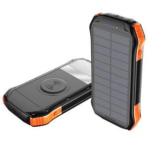 Solární powerbanka VIKING S10W 10000mAh, Outdoorová s IP66, podpora bezkontaktního nabíjení