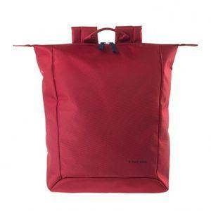 """Extratenký batoh Tucano SMILZO, vyrobený z high-tech materiálu, určený pre notebooky do 14 """", červený"""