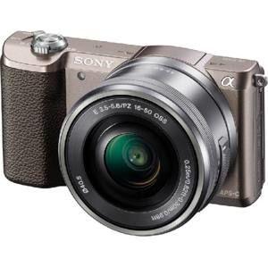 SONY ILCE-5100 Fotoaparát Alfa 5100 s bajonetem E + 16-50mm objektiv  - Brown