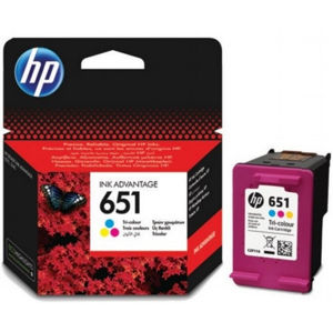 HP 651 ORIGINAL ATRAMENT C2P11AE, TRI-COLOUR, 300 STRAN