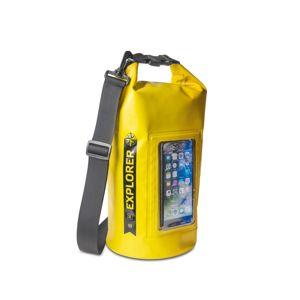 """Voděodolný vak CELLY Explorer 5L s kapsou na telefon do 6,2"""", žlutý,rozbaleno"""