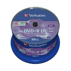 VERBATIM DVD+R DL AZO 8,5GB, 8x, spindle 50 ks