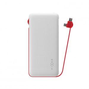 Powerbanka FIXED Zen 10 000 s kabelem microUSB/USB-C, 10 000 mAh, bílá,rozbaleno