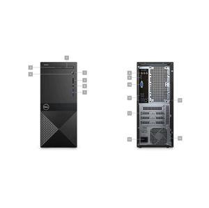 DELL Vostro 3670 MT/i3-9100/8GB/256GB SSD/Intel UHD/DVD-RW/WiFi/BT/Win10 Pro 64bit /poškozený obal