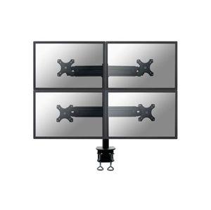"""NewStar Flat Screen držák na 4 PC monitory 10-30"""", na svorku, černý"""