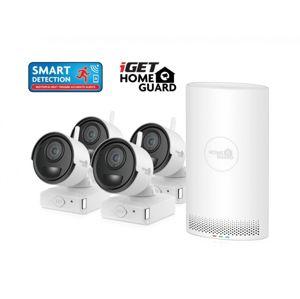 iGET HGNVK68004 - bateriový bezdrátový WiFi set FullHD 1080p, 6CH NVR + 4x FullHD kamera, aplikace