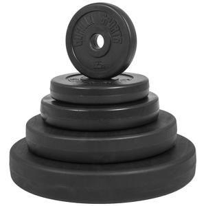 Gorilla Sports poplastovaný cementový kotúč 1,25kg - 15kg/31mm SET 30KG (6x5kg)