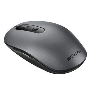 Canyon CNS-CMSW09DG, 2v1 bezdrôtová optická myš Bluetooth / Wireless USB, 800/1000/1200/1500 DPI, 6 tlač, šedá