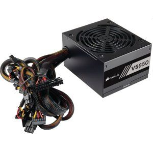 Corsair ATX zdroj, VS Series™ VS650, 650W, 120mm FAN, 80+, black