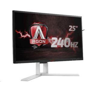 """AOC MT LCD WLED 24,5"""" AG251FG- herni, 400cd, 1ms, 1920x1080, HDMI, 4xUSB, DP, repro, pivot"""