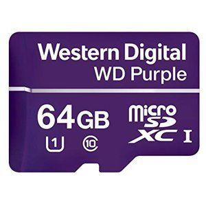 WD 64GB Purple microSDXC card Class10 (80MB/50MB)