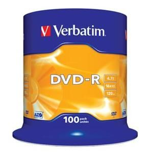 VERBATIM DVD-R AZO 4,7GB, 16x, spindle 100 ks