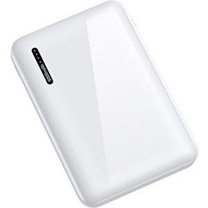 USAMS US-CD104 Dual USB Power Bank 5000mAh White