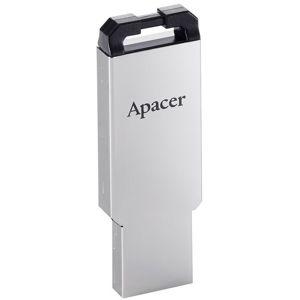 APACER AH310 USB FLASH DISK, 2.0, 32GB, STRIEBORNA, S PUTKOM NA ZAVESENIE, AP32GAH310S-1