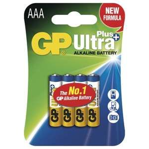 GP ALKALICKE BATERIE ULTRA PLUS AAA, 4KS BLISTER, B1711
