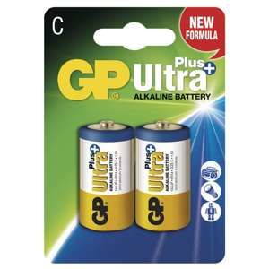 GP ALKALICKE BATERIE ULTRA PLUS C, 2KS BLISTER, B1731