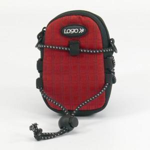 Púzdro na fotoaparát, nylón, červené, 10,7 x 6,2 x 2,4cm LOGO