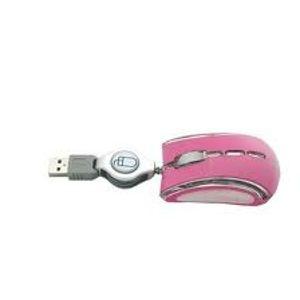 Esperanza EM109P CELANEO optická mini myš, 800 DPI, USB, navíjací kábel, ružová