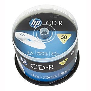 HP CD-R, CRE00017-3, 50-pack, 700MB, 52x, 80min., 12cm, bez možnosti potlače, cake box, Standard, pre archiváciu dát