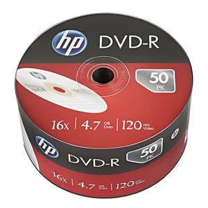 HP DVD-R, DME00070-3, 50-pack, 4.7GB, 16x, 12cm, bulk, bez možnosti potlače, pre archiváciu dát