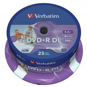 Verbatim DVD+R, 43667, DataLife PLUS, 25-pack, 8.5GB, 8x, 12cm, General, Double Layer, cake box, Wide Printable, pre archiváciu dá