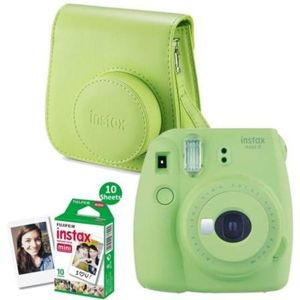 FUJIFILM INSTAX MINI 9 LIME GREEN + 10 FILMOV + PUZDRO SET (2018)