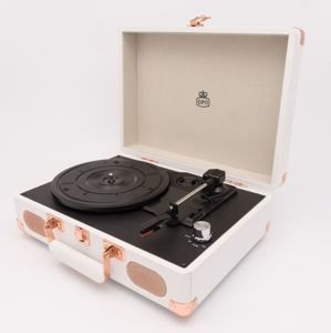 GPO Retro - gramofon Soho White Rose Gold
