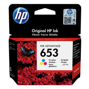 HP ORIGINAL INK 3YM74AE, TRI-COLOUR, 200STR., HP 653